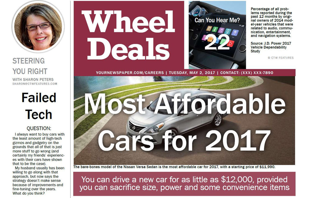 Wheel Deals : Most Affordable Cars for 2017 - The Content Store