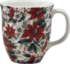 Pretty Chintzy Poinsettia Java Mug