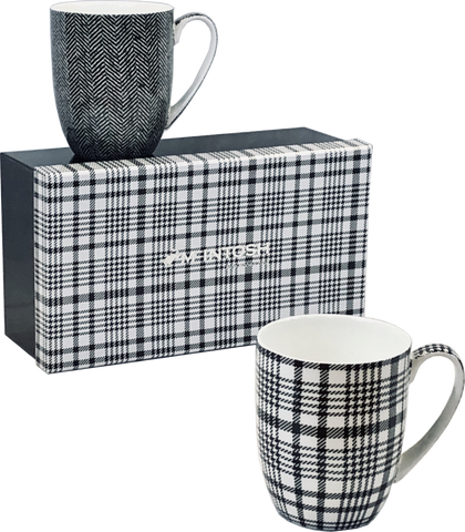 Shades of Grey Mug Pair