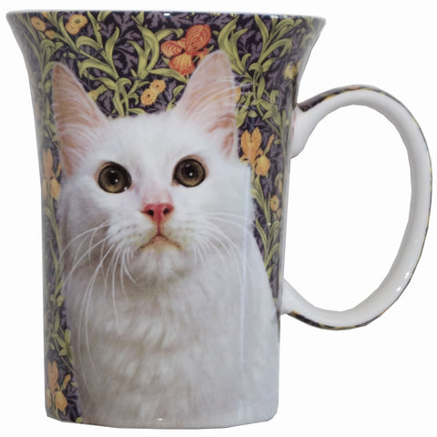 Feline Friends White Cat Crest Mug