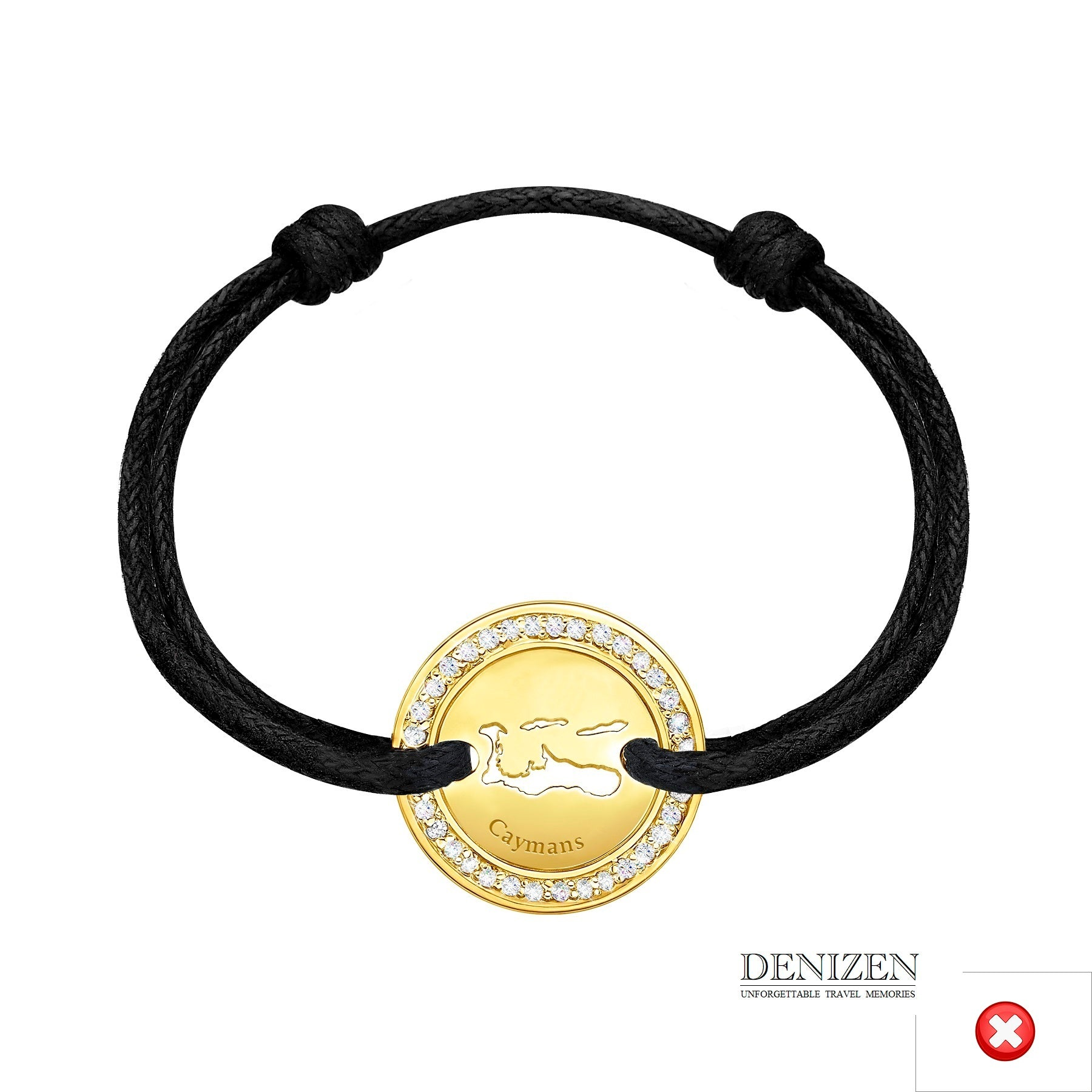 DENIZEN Bracelet black color string ref. 132