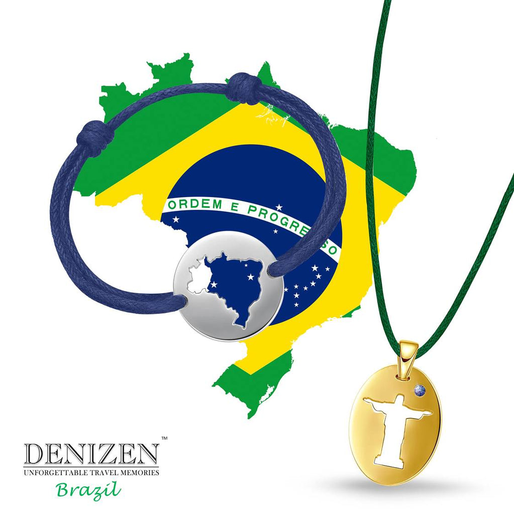 bracelet of brazil, pulseira do brasil, colar do cristo redentor, necklace of christ the redeemer
