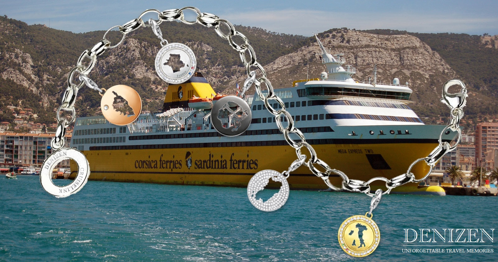 DENIZEN Bracelet Cruiselink charms sold on board cruise lines
