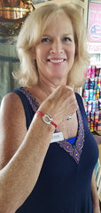 DENIZEN Jewelry - happy customer donning a bracelet