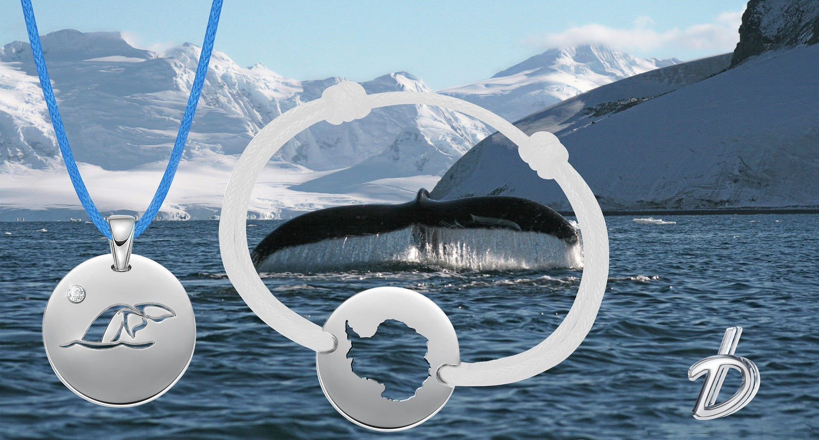 DENIZEN jewelry - bracelet of a whale breaching in the artic waters