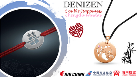 DENIZEN Bracelet advertising on board Chinese airlines