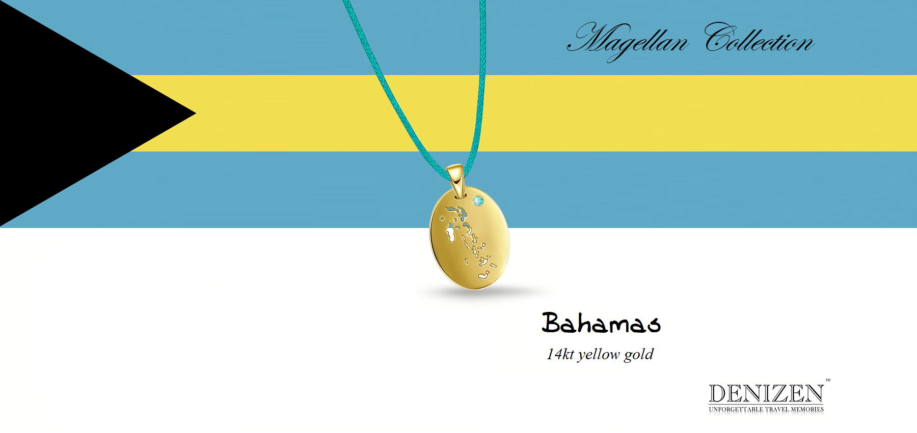 DENIZEN bracelet of the Bahamas in Magellan collection 14kt gold