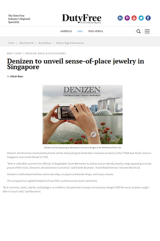 DENIZEN WORLD exhibits its DENIZEN bracelet of Singapore for its Asian market 2018