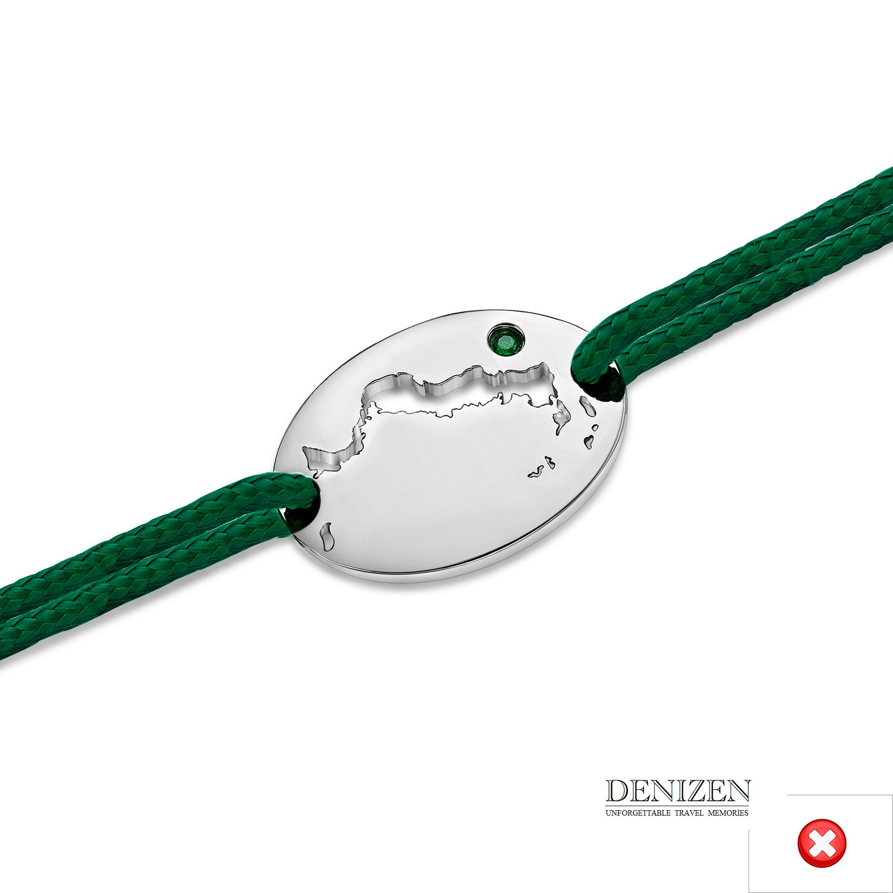 DENIZEN Bracelet green color string #120
