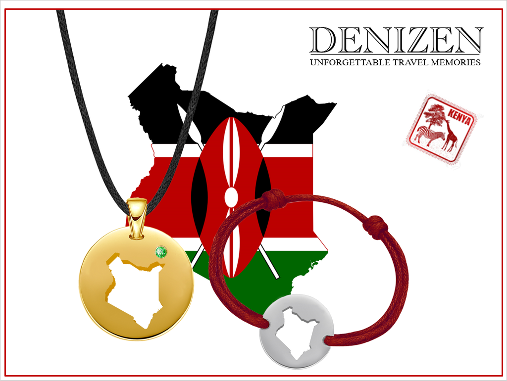 denizen bracelet and necklace of kenya, bracelet et collier du kenya