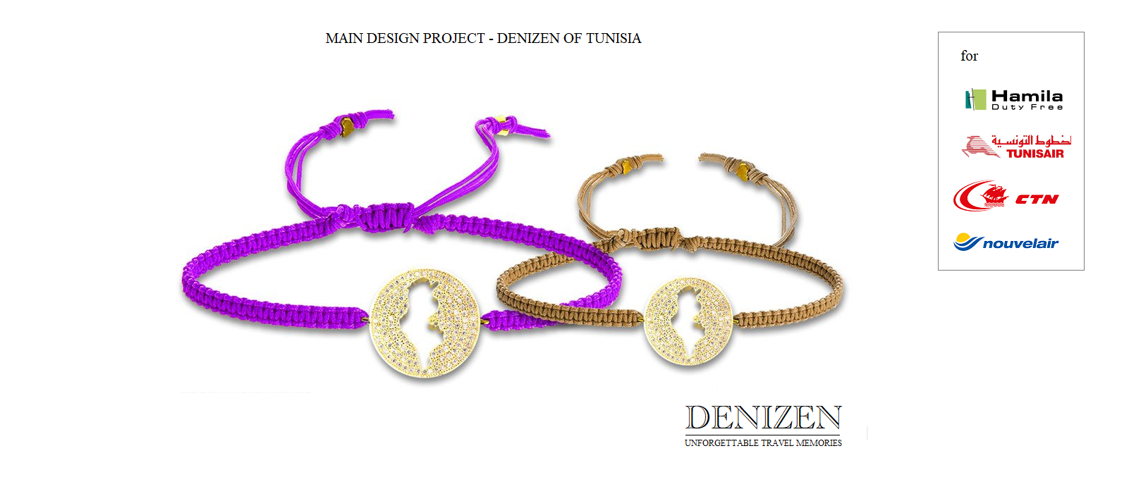 Denizen bracelet of Tunisia for Tunisair - Hmila - CTN and Tunisair
