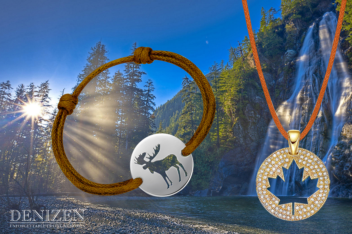 canada moose and maple leaf bracelets