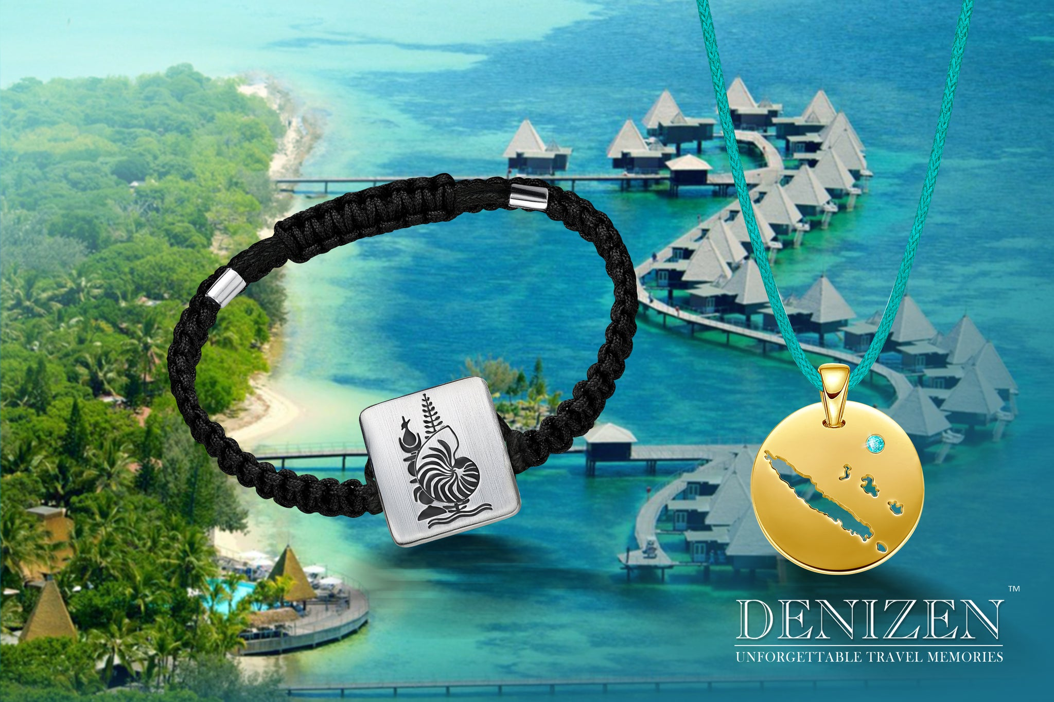 denizen bracelet and necklace of new caledonia, nouvelle caledonie