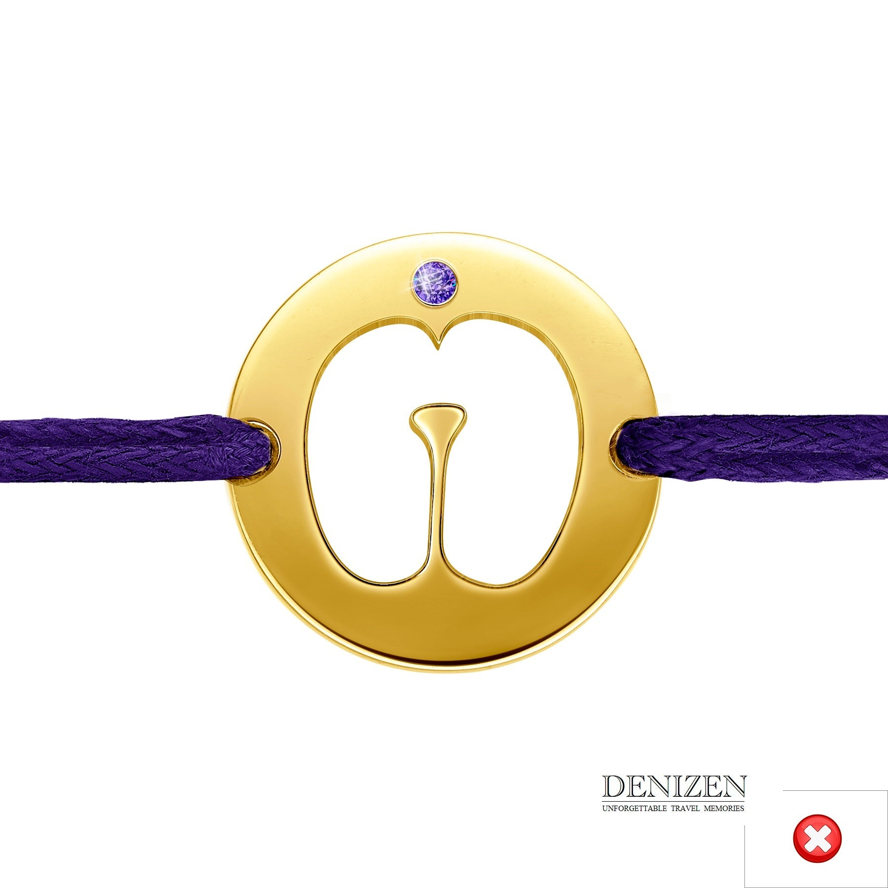 DENIZEN Bracelet of Coco de mer Seychelles in purple color #107