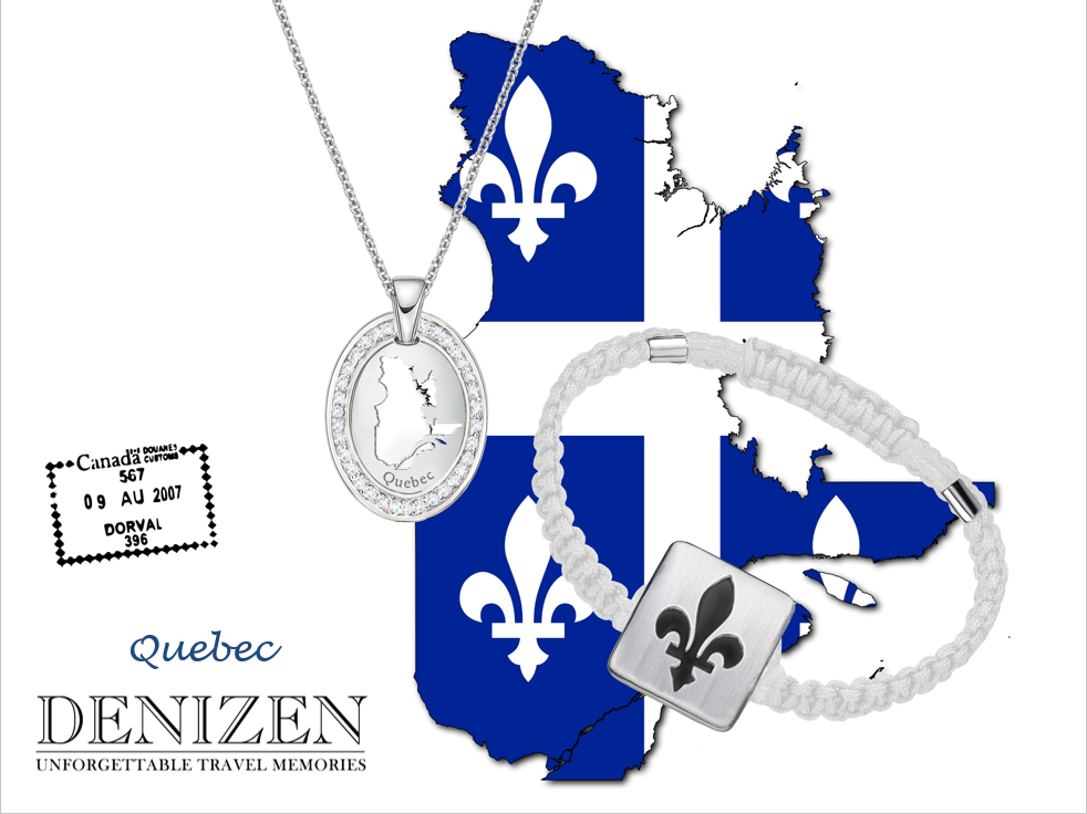 denizen bracelet of fleur de lys, necklace of quebec