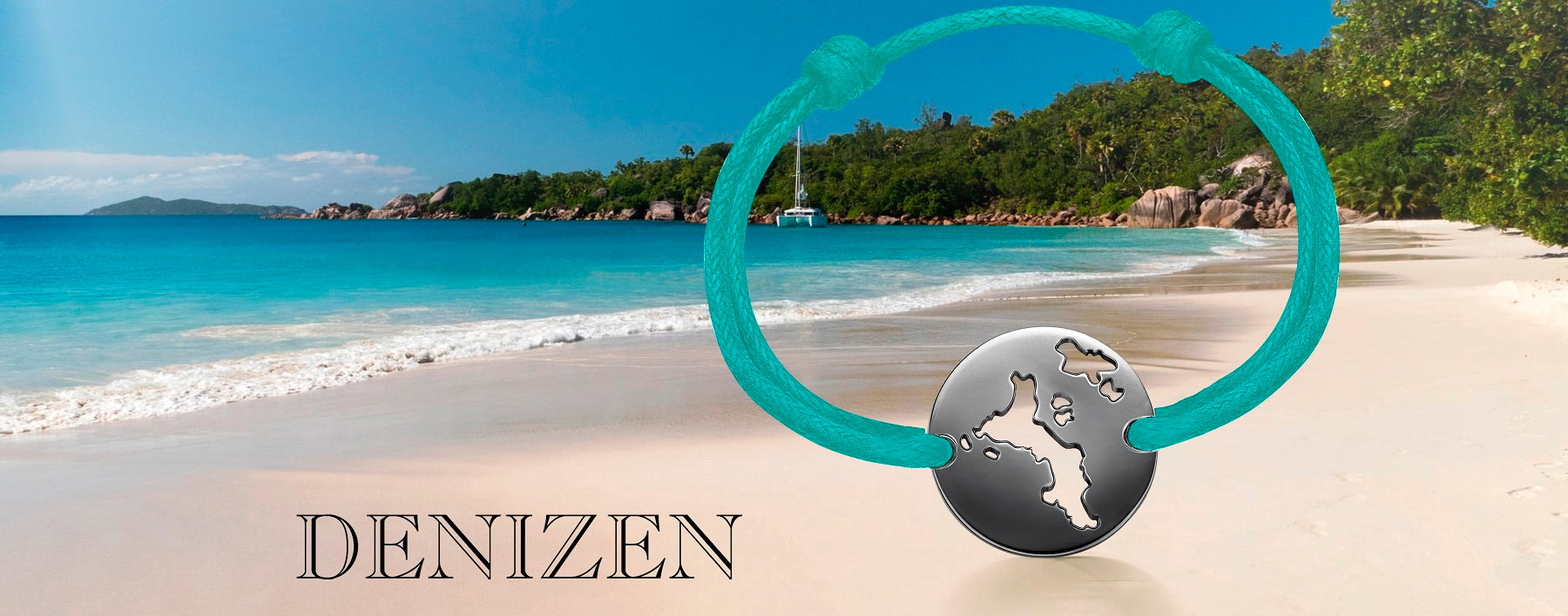 DENIZEN bracelet of Seychelles - Black Moon style