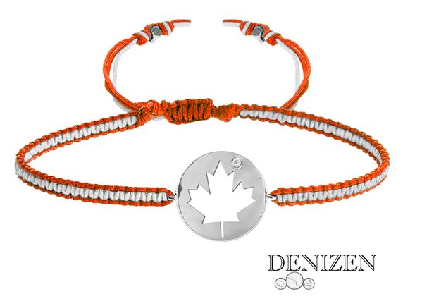 denizen bracelet of canada maple leaf, bracelet feuille d'erable