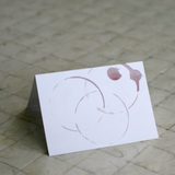 Folding Cards - Wine Stain (Qty 15)