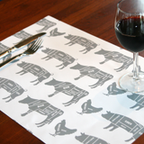 Placemats - Modern Meat Cut (Qty 20)
