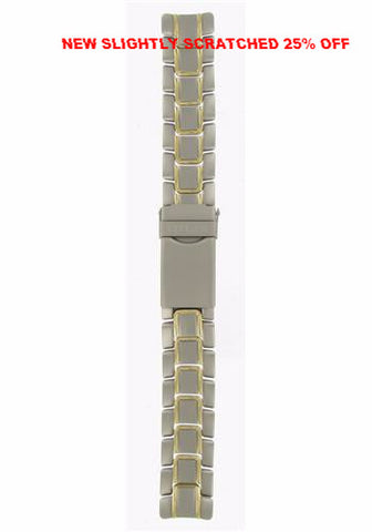 ** NEW SLIGHTLY SCRATCHED 25% OFF ** BAND & PINS COMBO: Citizen Watch Bracelet  Two  Tone - Titanium / Gold Tone  Part # 59-H0057 with Band to Case Pins