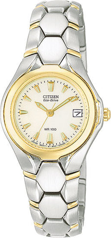 BAND & PINS COMBO: Citizen Watch Bracelet Two Tone Stainless Steel Part # 59-K00098 With Band to Case Pins