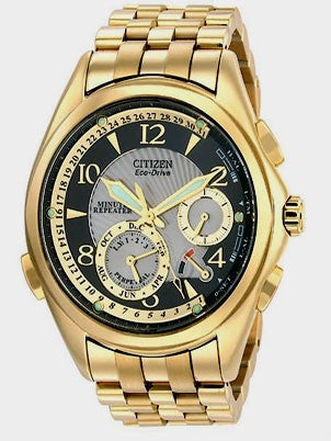 BAND & PINS COMBO: Citizen Watch Bracelet Gold Tone Stainless Steel Part # 59-S02585 With Band to Case Pins
