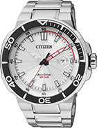 BAND & PINS COMBO: Citizen Watch Bracelet Silver Tone Stainless Steel Part # 59-S05038