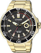 BAND & PINS COMBO: Citizen Watch Bracelet Gold Tone Stainless Steel Part # 59-S06081 With Band to Case Pins
