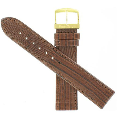 BAND ONLY: Citizen Watch Strap Brown leather 19 MM Part # 59-S50108