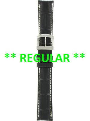 BAND ONLY: Citizen Watch Band Black Leather 18MM Part # 59-S50281