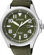 BAND ONLY: Citizen Watch Strap Green Nylon Part # 59-S53094