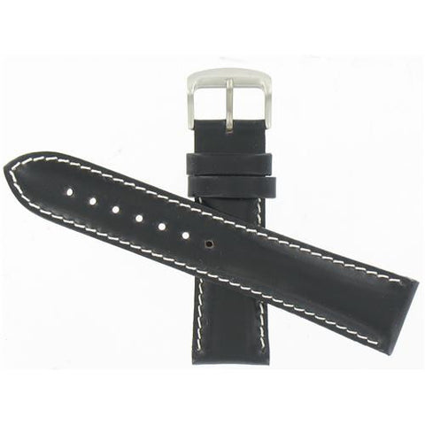 BAND ONLY: Citizen Watch Strap Black Leather 22 MM Specialty Part # 59-T50213