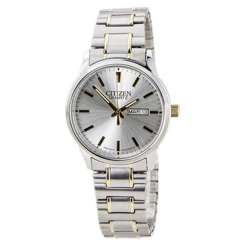 BAND & PINS COMBO: Citizen Watch Bracelet Two Tone Expansion Stainless Steel Part # 59-BF0614-90A With Band to Case Pins