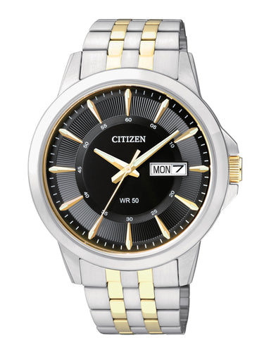 BAND & PINS COMBO: Citizen watch Bracelet Two Tone Stainless Steel Part # 59-BF2018-52E With Band to Case Pins