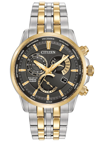 BAND & PIN COMBO: Citizen Watch Bracelet Two Tone Stainless Steel Part # 59-S06566 With Band to Case Pins