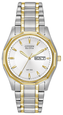 BAND & PINS COMBO: Citizen Watch Bracelet Two Tone Stainless Steel  Part # 59-S03386 with Band to Case Pins
