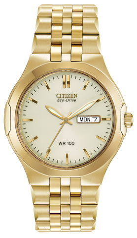 BAND & PINS COMBO: Citizen Watch Bracelet  Gold-Tone   Stainless Steel Part # 59-S02819 With Band to Case Pins
