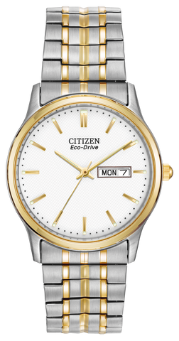 BAND & PINS COMBO: Citizen Watch Bracelet Two Tone Stainless Steel Part # 59-S05537 With Band to Case Pins
