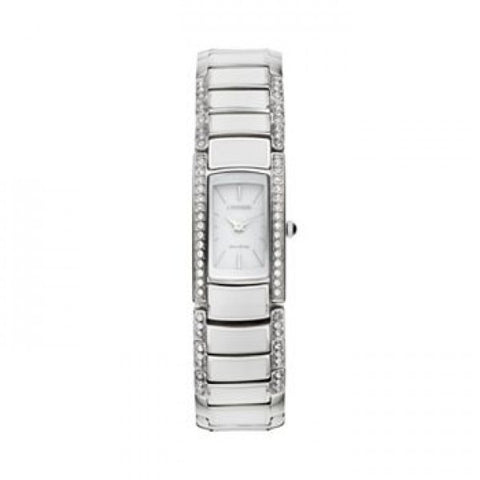BAND & PINS COMBO: Citizen Watch Bracelet Two Tone Stainless Steel /White RESIN Part # 59-S05761 With Band to Case Pins