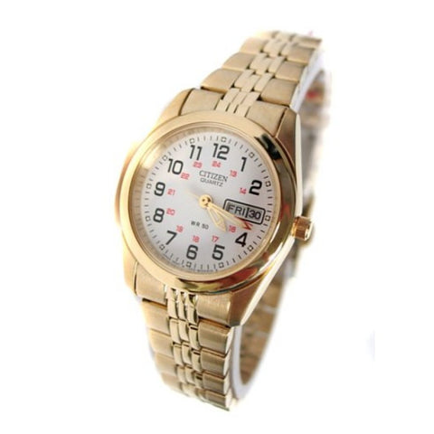 BAND & PINS COMBO: Citizen Watch Bracelet Gold Tone Stainless Steel Part # 59-S01956 With Band to Case Pins