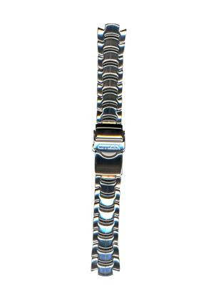 BAND & PINS COMBO: Citizen Watch Bracelet Silver Tone Stainless Steel Part # 59-K00253 with Band to Case Pins
