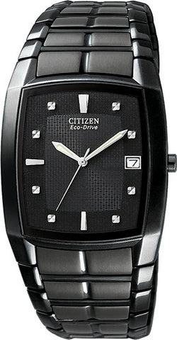 BAND & PINS COMBO: Citizen Watch Bracelet Black Ion Plated Stainless Steel Part # 59-S03111 With Band to Case Pins