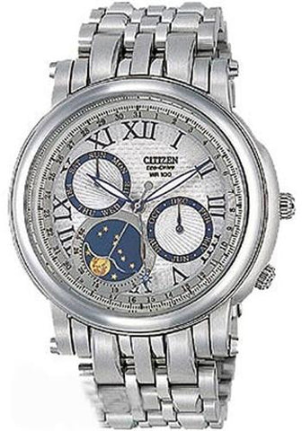 BAND & PINS COMBO: Citizen Watch Bracelet Silver Tone  Stainless Steel  Part # 59-S01748 with Band to Case Pins