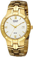 BAND & PINS COMBO: Citizen Watch Bracelet Gold Tone Stainless Steel Part # 59-S05117 with Band to Case Pins