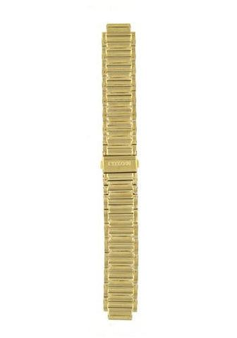 BAND & PINS COMBO: Citizen Watch Bracelet Gold Tone Stainless Steel Part # 59-S02270 with Band to Case Pins