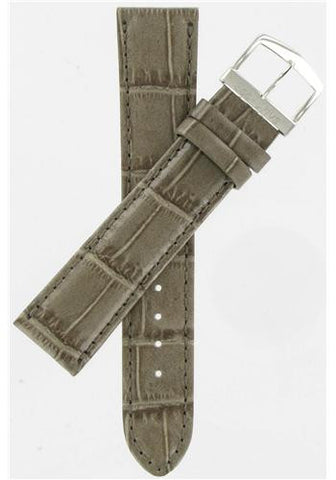 BAND ONLY: Citizen Watch Band  Gray Leather 20MM Part # 59-S50683