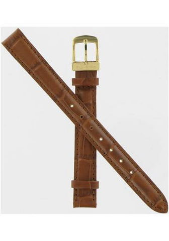 BAND ONLY: Citizen Watch Band Brown Leather 11MM Part # 59-S50840