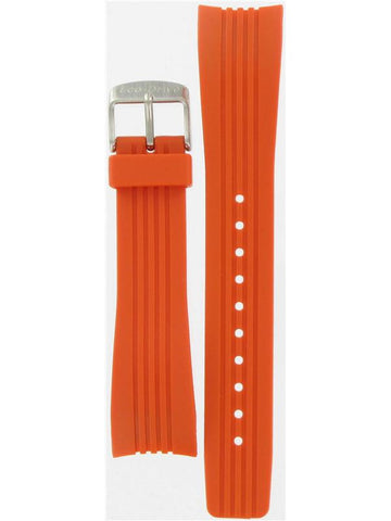 BAND & PINS COMBO: Citizen Watch Strap Orange Polyurethane Part # 59-S51270 With Band to Case Pins