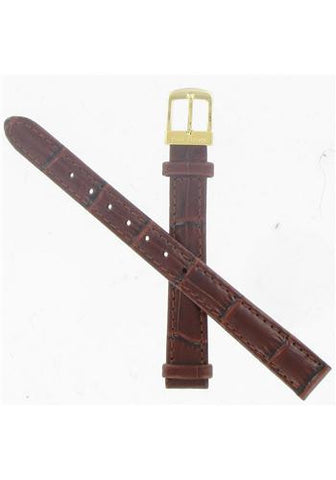 BAND ONLY: Citizen Watch Band Brown Leather 12MM Part # 59-S51436