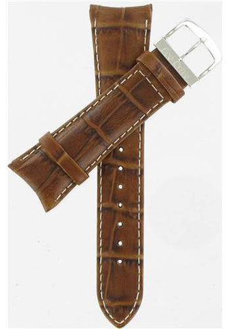 BAND ONLY: Citizen Watch Band Brown Leather 23MM Part # 59-S51786